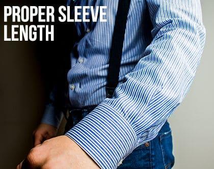 proper sleeve length