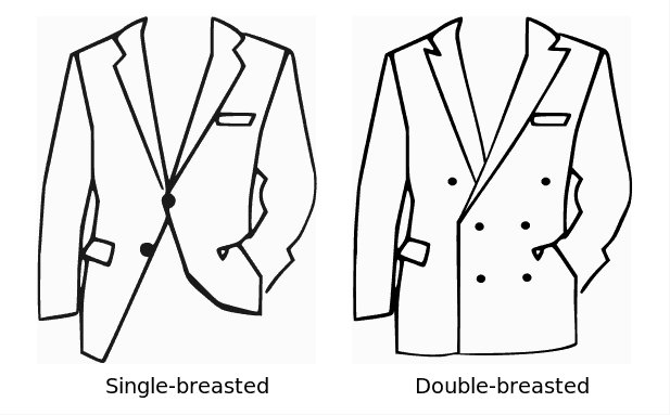 single vs double breasted suit with bow tie