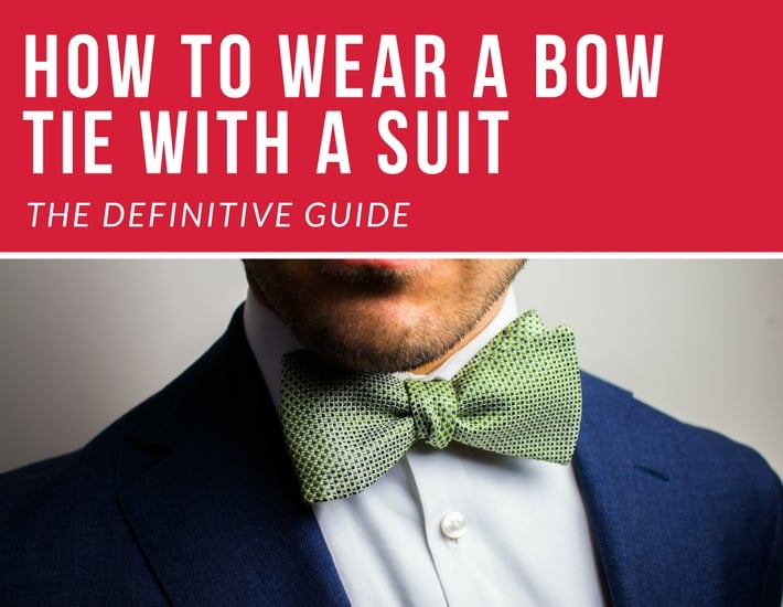 b54eadbbe9a7 Bow Ties With Suits (The Definitive Guide) - The Bow Tie Guy