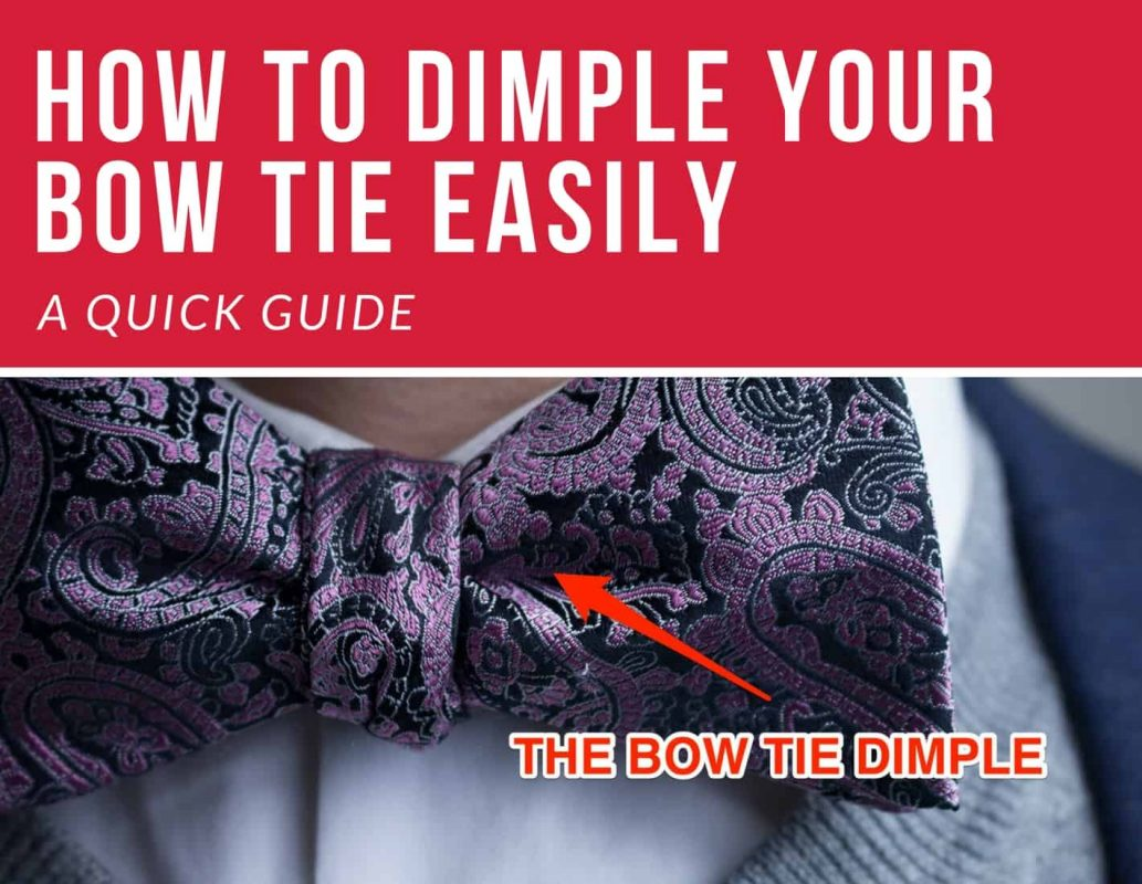 dimple bow tie