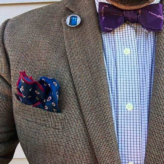 Dr. Who Suit Jacket and Purple Bow Tie