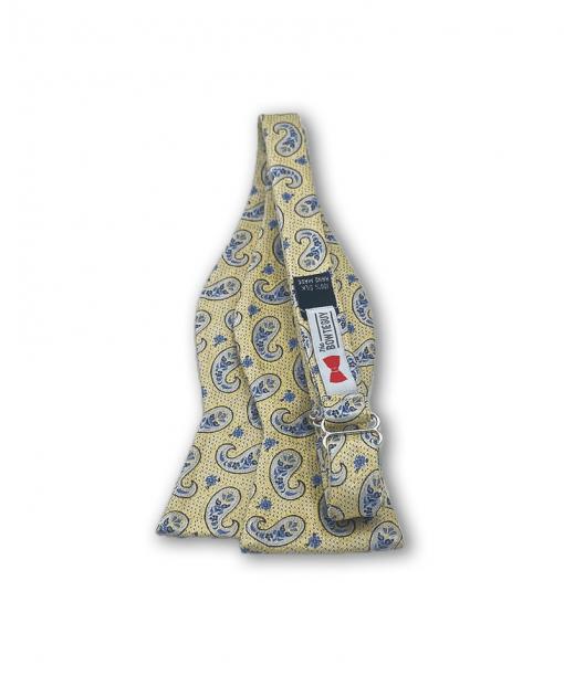 Aura Yellow Paisley Bow Tie untied