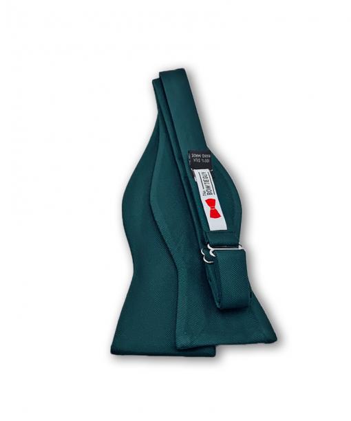Hunter Green Grosgrain Bow Tie untied