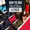 Bow tie bulk bundle box of 5 where you can pick mix and match your own handmade bow ties