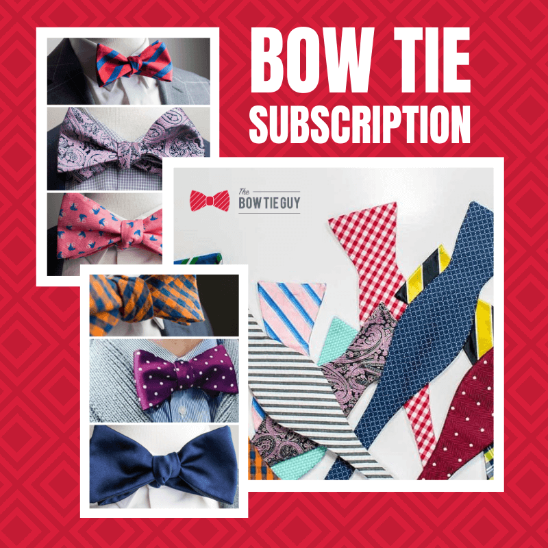 bow tie subscription shown as a gift