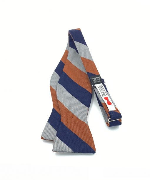 coarshire-rust-striped-cotton-self-tie-bow-tie that is shown untied