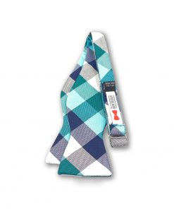 irvine-green-plaid-silk-self-tie-bow-tie shown untied