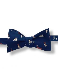 street muts dog novelty self tie bow tie blue color