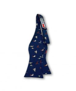street muts dog novelty self tie bow tie blue color that is untied